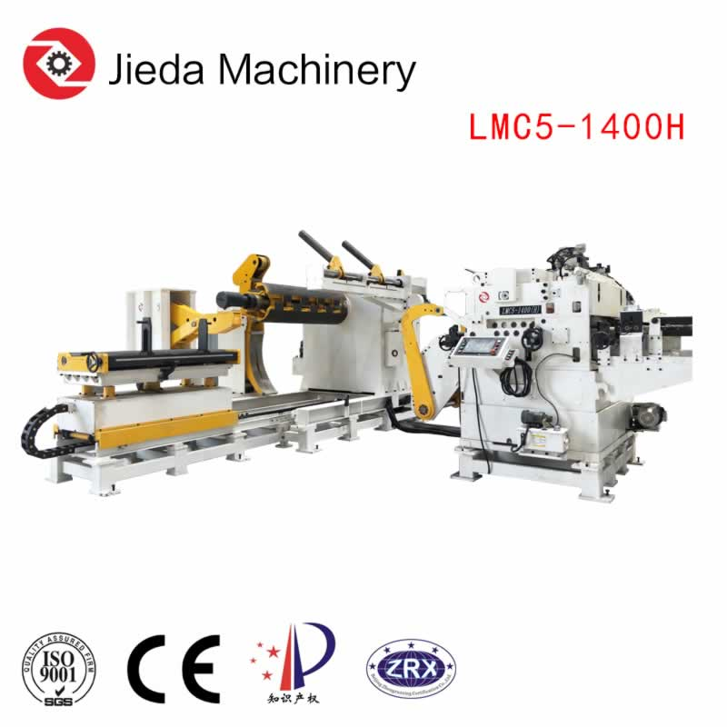 Steel Coil Hydraulic Uncoiler Straightening Machine with Coil Loading Car