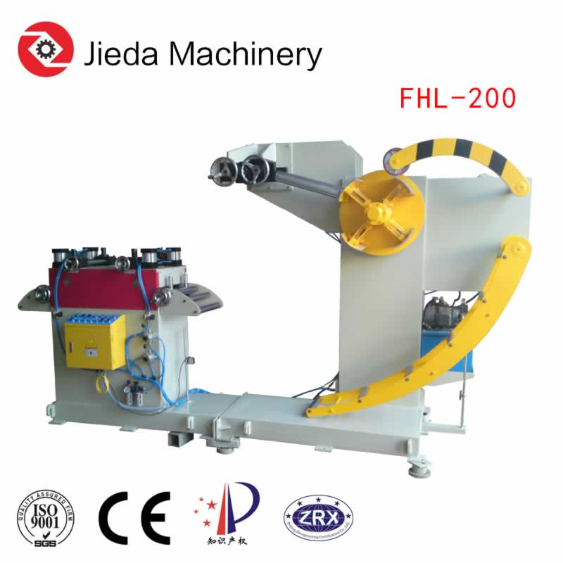 Hydraulic Combined Decoiler Cum Straightener With Hold Down Arm